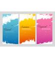 Color summer set with splash vector