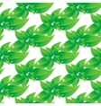 Branch with green leaves seamless background vector