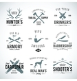 Set of vintage labels with retro typography for vector