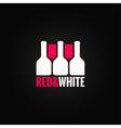 Wine glass bottle design background vector