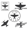 Set of vintage retro aeronautics flight badges and vector