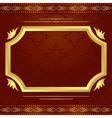 Decorative frame with golden decor vector