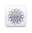 White snowflake icon eps10 easy to edit vector