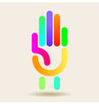 Colorful hand graphic vector