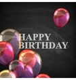 Colorful poster with balloons and chalk letters on vector