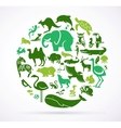 Animal green world - huge collection of icons vector