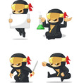 Ninja customizable mascot 7 vector