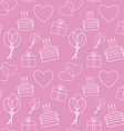Seamless pink background vector