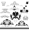 Two wedding rings - vintage ornaments calligraphic vector