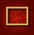 Picture wooden frame on vintage wall vector