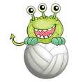 A monster above the ball vector