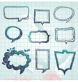 Speech bubbles - hand-drawn vector