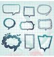 Speech bubbles - hand-drawn vector