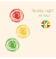 Abstract traffic light colorful background vector