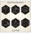 Vintage retro restaurant vector