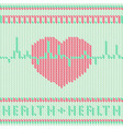 Heart knitted vector