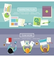 Team work and marketing plan concept vector