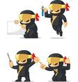 Ninja customizable mascot 9 vector