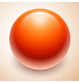 Big red ball abstract vector