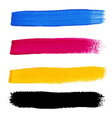 Cmyk colors acrylic stains vector