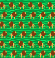 Cartoon lion seamless pattern wild animal africa vector