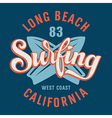 Surfing california vector
