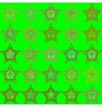 Abstract green seamless patterns vector