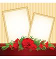 Flower border frame vector