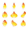Flame set vector