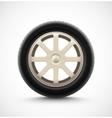 Isolated car wheel vector