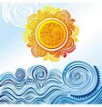 Sea and sun vector