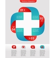 Medical and healthcare background infographic vector