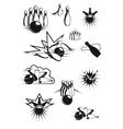 Black and white comic bowling balls and ninepins vector