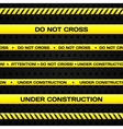 Under construction lines vector