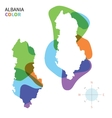 Abstract colored map of albania vector