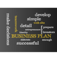 Business plan vector