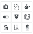 Medicine icons collection vector