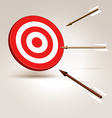Arrows flying to target vector