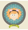 Zodiac signs collection cute horoscope - leo vector