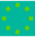 Four leaf clover round frame empty flat design vector
