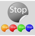 Traffic stop sign icon caution symbol set of vector
