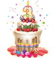 Happy birthday cake 3 vector