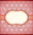 Vintage frame with snowflakes vector