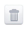 White bin icon eps10 easy to edit vector