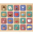 Set of food and drinks icons modern flat style vector