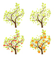 Stylized fruit trees vector