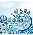 I love sea vector