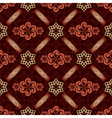 Decorative seamless brown pattern vector