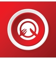 Tableware icon on red vector