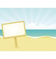 Wodden beach sign vector